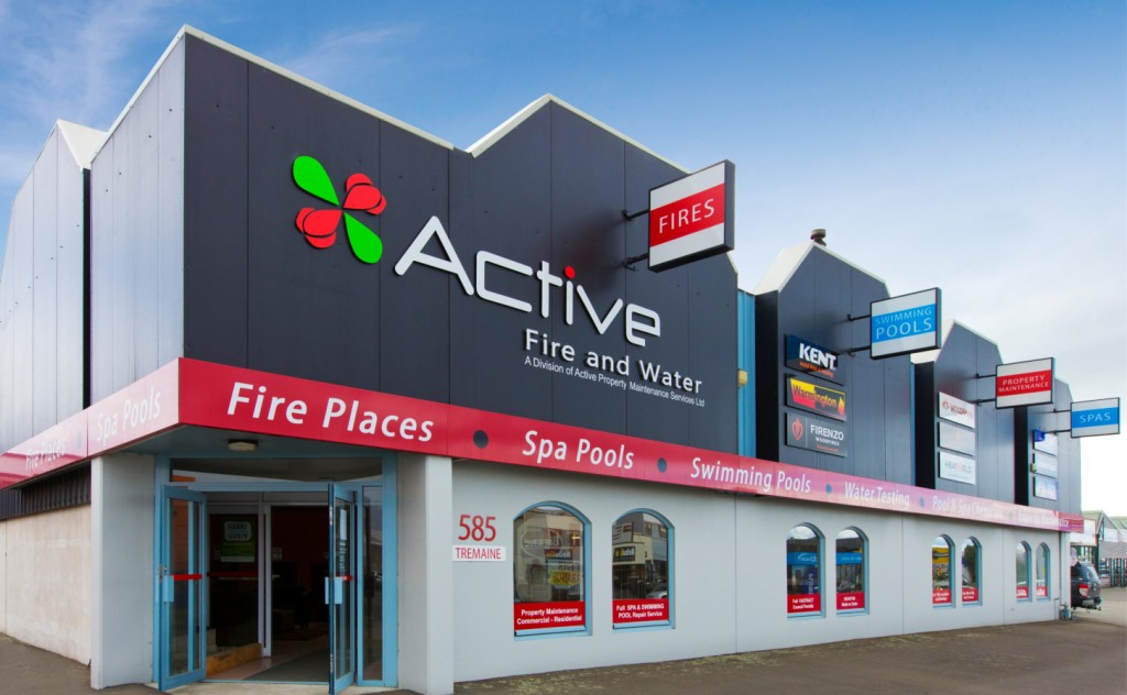Active Fire Water For Fireplaces Spa Swimming Pools Palmerston North